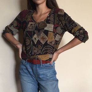 Artistic Patterned Sweater